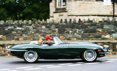 Vintage Conway Photograph - Jaguar E-type Sports Car by Georgia Fowler