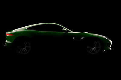 Digital Art - Jaguar F-type - Side View by David Marchal