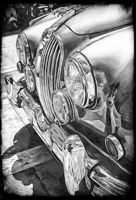 Photograph - Jaguar Mark 2 Front  by Dorothy Berry-Lound