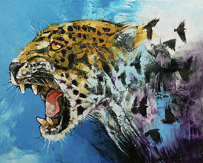 Surrealistic Painting - Jaguar by Michael Creese