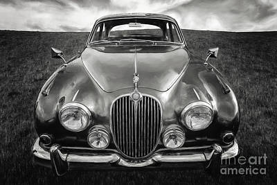 White Clouds Digital Art - Jaguar Mk II 3.8 Litre by Adrian Evans