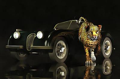Painting - Jaguar Mk 3 by Jan Keteleer