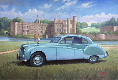 Painting - Jaguar Mk X by Mike Jeffries