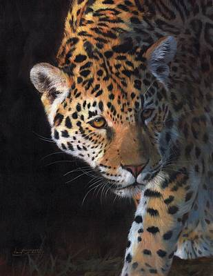 Painting - Jaguar Portrait by David Stribbling