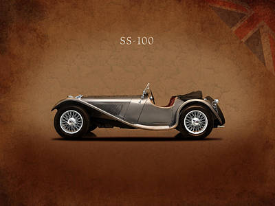Jaguar Ss 100 Art Print