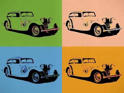 Mixed Media - Jaguar Ss1 Pop Art by Dan Sproul