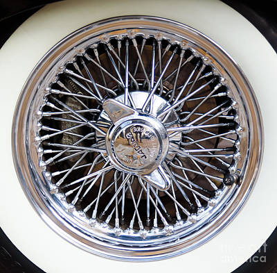 Photograph - Jaguar Wired Wheel by Colin Rayner