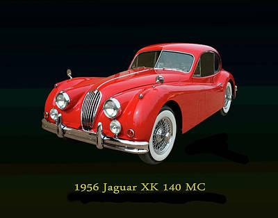 Jaguar X K 140 M C 1956 Art Print