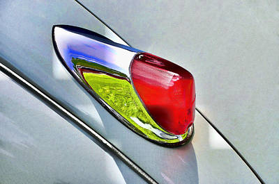 Typographic World Royalty Free Images - Jaguar X K 150 Tail Light Royalty-Free Image by Allen Beatty