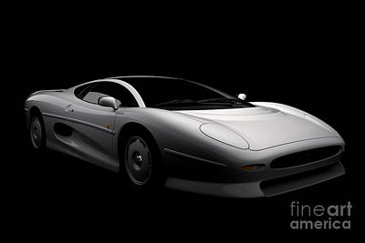 Digital Art - Jaguar Xj220 by David Marchal