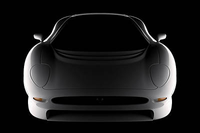 Digital Art - Jaguar Xj220 - Front View by David Marchal