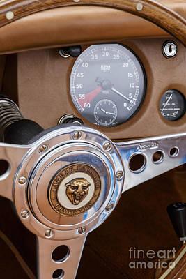 Photograph - Jaguar Xk 120 Steering by Dennis Hedberg