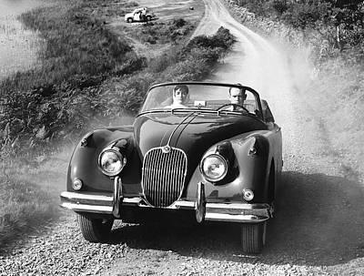 Dirt Track Photograph - Jaguar Xk 150 Drophead Coupe by Underwood Archives