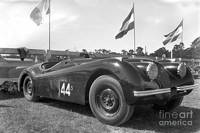 Photograph -  Jaguar Xk120 Is A Sports Car Manufactured By Jaguar Circa 1953 by California Views Mr Pat Hathaway Archives