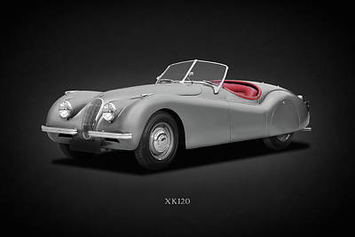 Photograph - Jaguar Xk120 by Mark Rogan