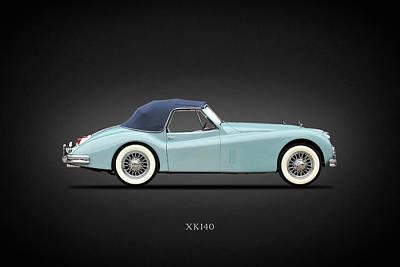 Jaguar Xk140 Art Print