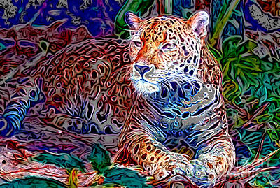 Digital Art - Jaguar by Zedi