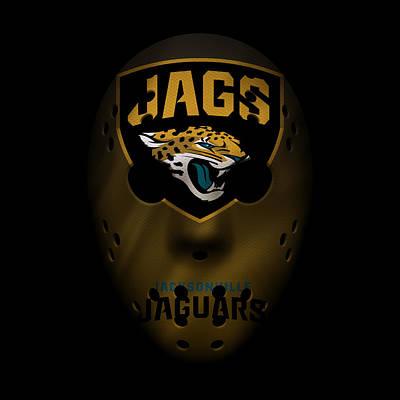 Football Photograph - Jaguars War Mask 3 by Joe Hamilton
