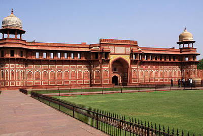 Photograph - Jahangir Palace, The Red Fort, Agra, India by Aidan Moran