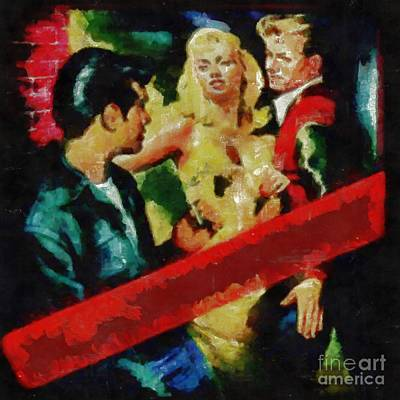 Painting - Jail Bait True Crime Series by Edward Fielding
