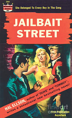 Print featuring the painting Jailbait Street by Ray Johnson