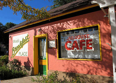 Photograph - Jailhouse Cafe Moab Utah by Lawrence Christopher