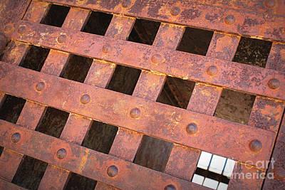 Photograph - Rusty Jailhouse Door by Carol Groenen