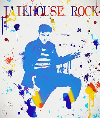 Jailhouse Rock Paint Splatter Art Print by Dan Sproul