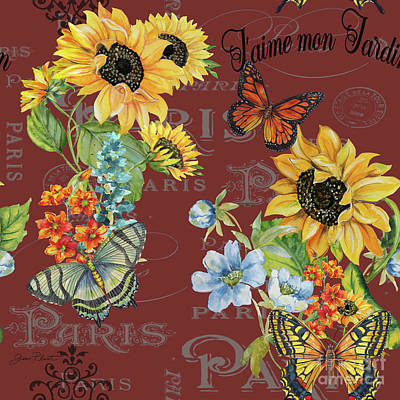 Print featuring the painting Jaime Mon Jardin-jp3988 by Jean Plout