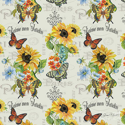 Print featuring the painting Jaime Mon Jardin-jp3989 by Jean Plout