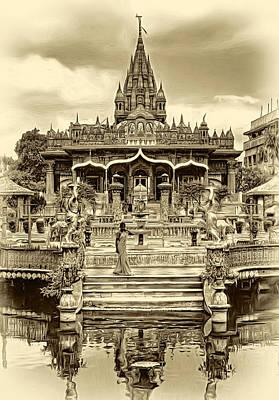 Jainism Wall Art - Photograph - Jain Temple - Sepia by Steve Harrington