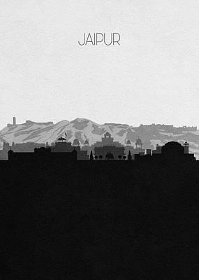 Digital Art - Jaipur Cityscape Art by Inspirowl Design