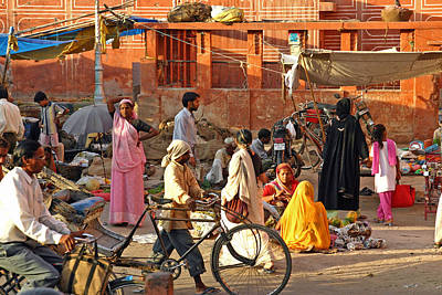 Photograph - Jaipur. Street Scene by Tony Brown