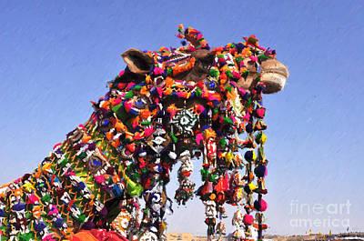 Painting - Jaisalmer Desert Festival-5 by Anil Sharma
