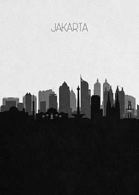Digital Art - Jakarta Cityscape Art by Inspirowl Design