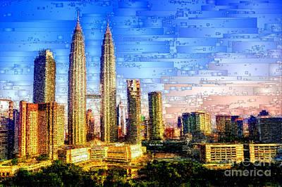 Digital Art - Jakarta, Indonesia by Rafael Salazar