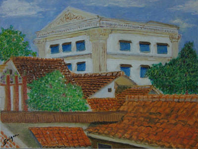 Painting - Jakarta Roofs by SAIGON De Manila