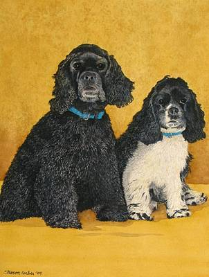 Jake And Lucy Art Print by Sharon Farber
