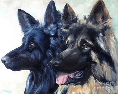 Painting - Jake And Shiloh by Diane Daigle