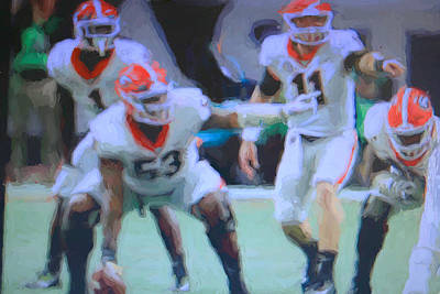 Photograph - Jake Fromm Changes Play by Dennis Baswell