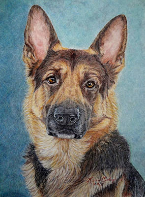 Dog Close-up Painting - Jake by Karen Curley