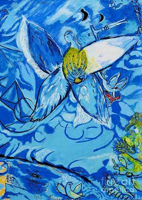 Marc Chagall Painting - Jakobs Dream 2 - Tribute To Marc Chagall by Art by Danielle
