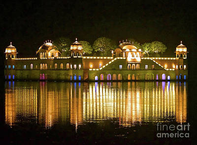 Jal Palace At Night Art Print