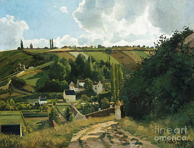 Jalais Hill At Pontoise Art Print by Camille Pissarro