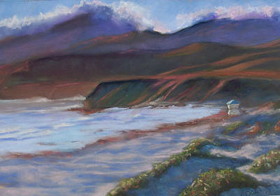 Jalama Beach At Sunset Art Print by Laurie Paci