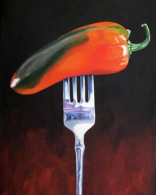 Jalapeno Pepper On Fork Original