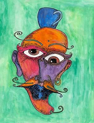 Jalepeno Face Art Print by Jessica Kauffman