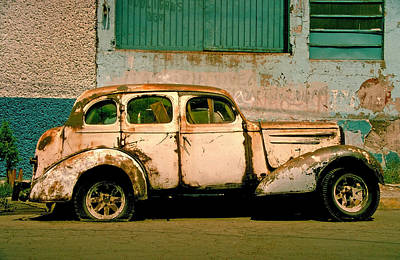 Rusted Cars Photograph - Jalopy by Skip Hunt