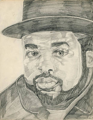 Hop Drawing - Jam Master Jay by Allen Walters
