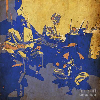 Birthday Gift Digital Art - Jam Session 01 - Jazz Musicians by Pablo Franchi